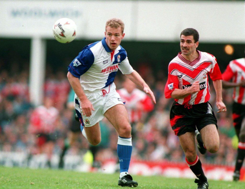 Alan Shearer ist eine englische Sturm-Legende. Foto: Allsport