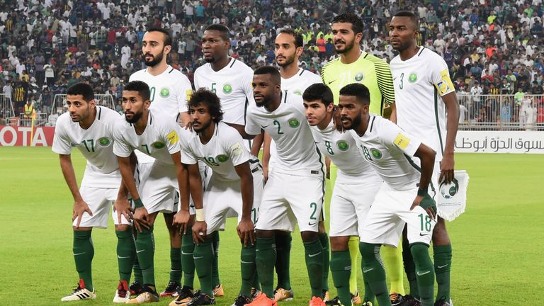 Saudi Arabia are the Green Falcons