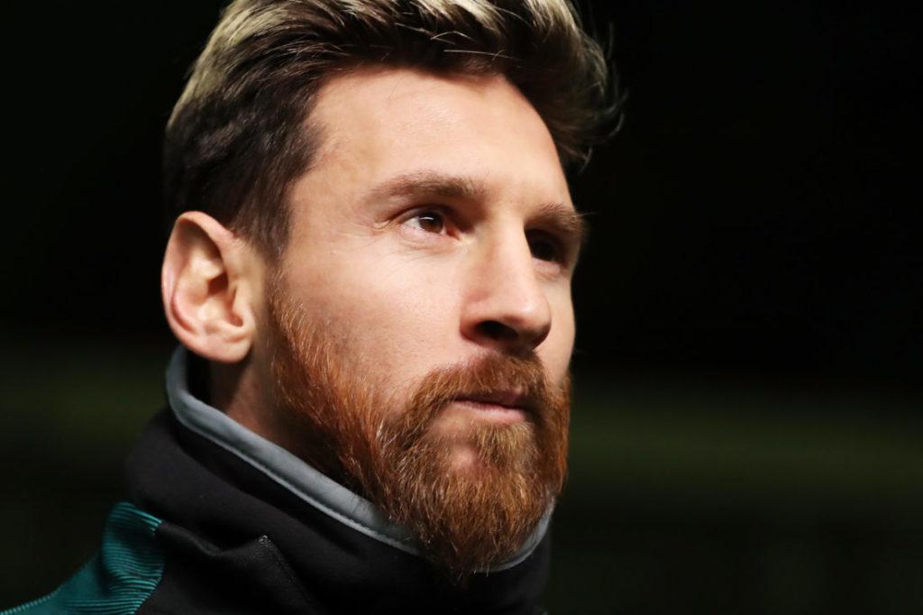 GLASGOW, SCOTLAND - NOVEMBER 22: Lionel Messi of Barcelona walks out during the FC Barcelona training session at Celtic Park Stadium on November 22, 2016 in Glasgow, Scotland.