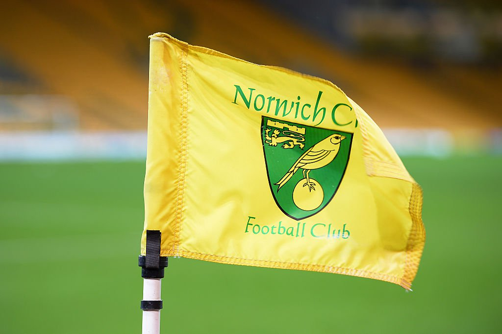 Die Fahne von Norwich City. Foto: Getty Images