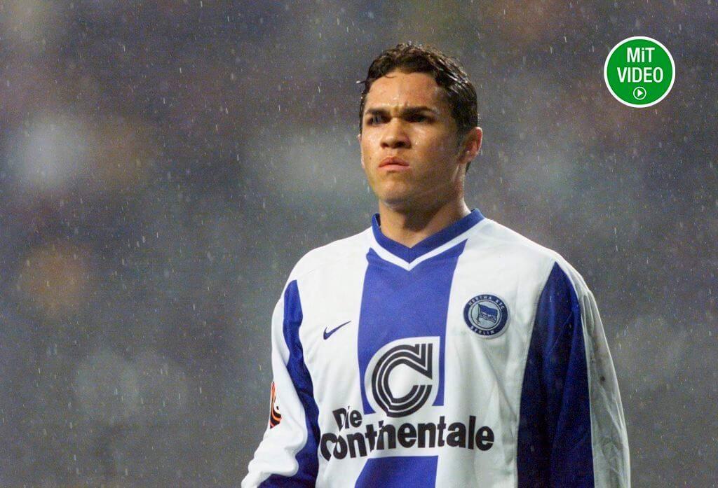 Alex Alves erzielte im Trikot der Hertha am 30. September 2000 gegen Köln ein Jahrhunderttor aus 52 Metern Torentfernung. Foto: Getty Images