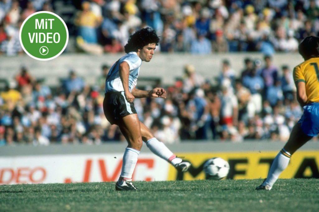 Maradona gilt als einer der besten Fußballspieler der Geschichte. Foto: Allsport