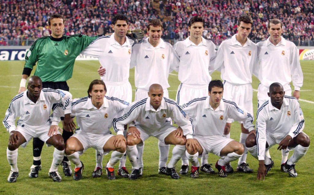 Das war eine Truppe: Real Madrid mit Zidane, Raul und Roberto Carlos. Foto: Getty Images