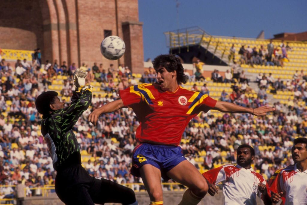 Andres Escobar in action. I