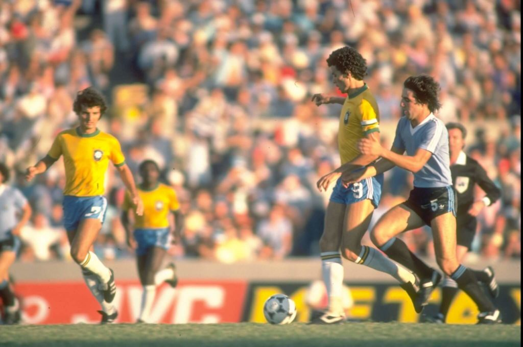 Socrates and his team lost the decisive matches at the World Cups 1982 and 1986.