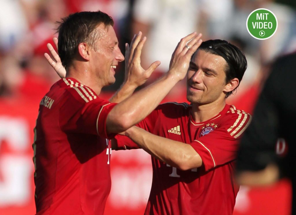 Danijel Pranjic (rechts) war für die Bayern ein teures Missverständnis. Foto: Getty Images