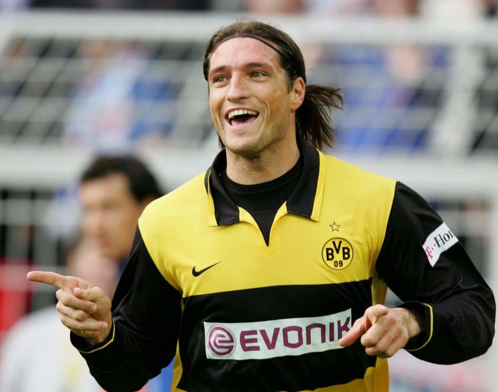 Diego Fernando Klimowicz war trotz seiner damals 33 Jahre die große Torjägerhoffnung des BVB. Foto: Getty Images
