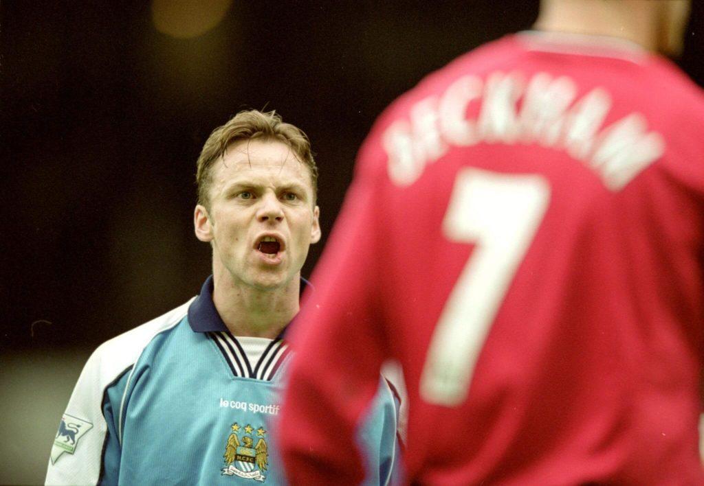 Paul Dickov und David Beckham. Foto: Getty Images