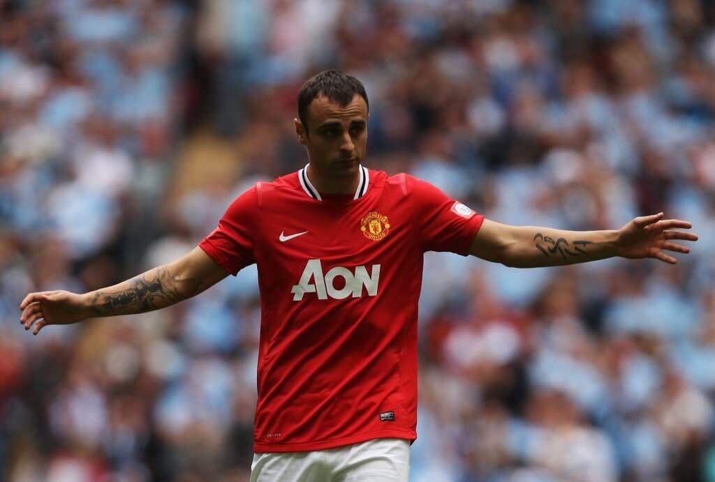 Dimitar Berbatov sorgte 2008 für den damals teuersten Transfer der Vereinsgeschichte von Manchester United. Foto: Getty Images
