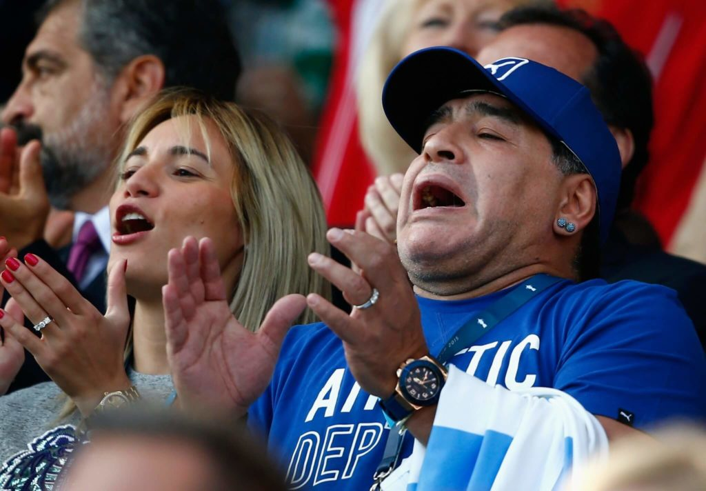Maradona heute. (Photo by Laurence Griffiths/Getty Images)