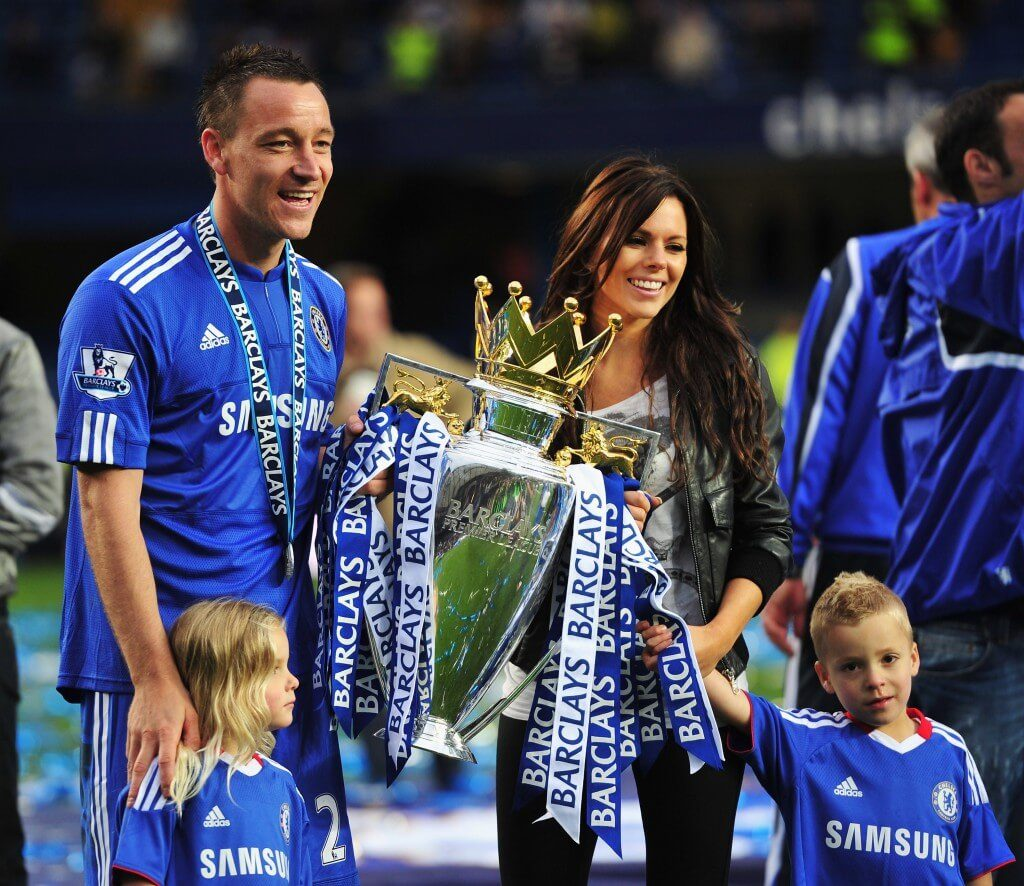 John Terry samt Familie. Foto: Getty Images