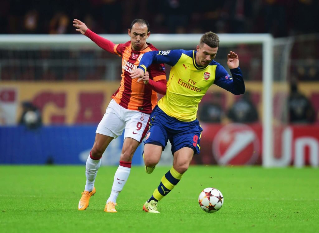 Lukas Podolski im Arsenal-Trikot. Foto: Getty Images