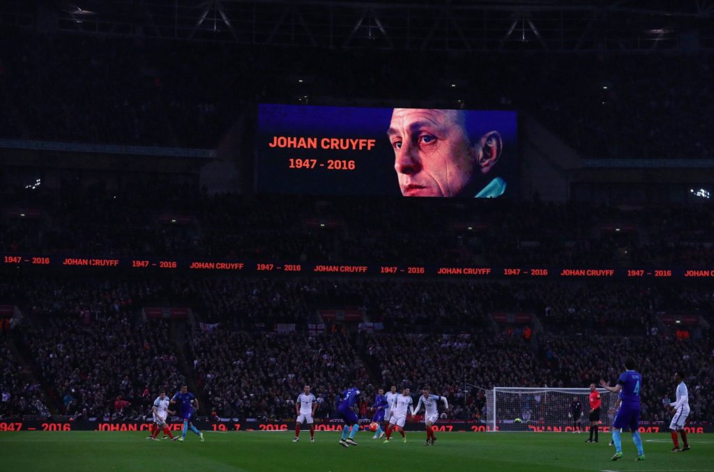 2016 wird in London Johan Cruyff gedacht. Foto: Getty Images