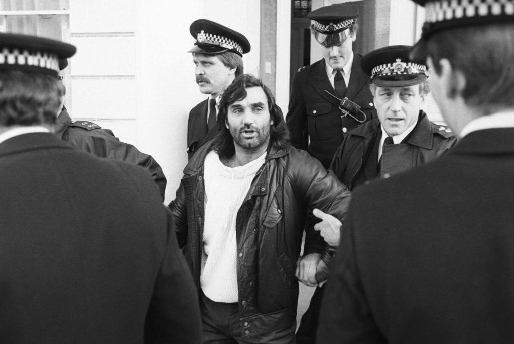 George Best hatte mehrere überragende Gespräche mit der Polizei. Foto: Getty Images