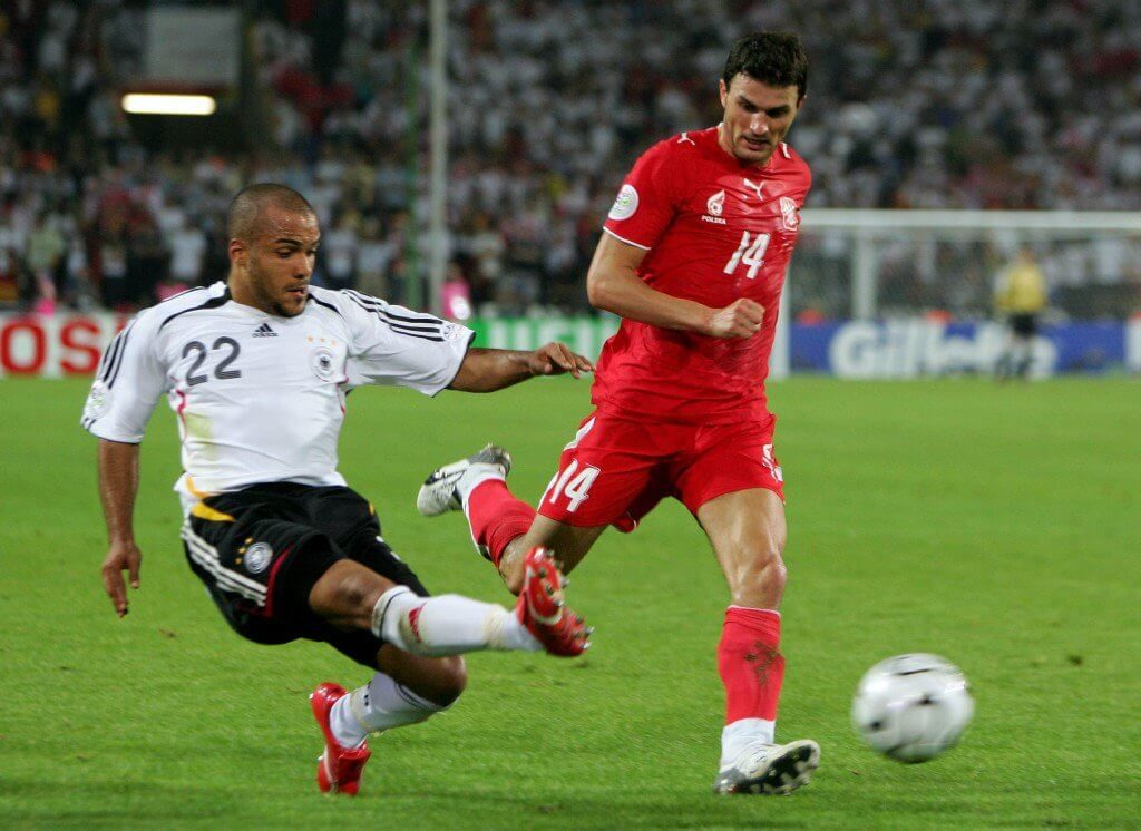 Das Spiel, in dem David Odonkor zum Star wurde: WM-Vorrunde 2006, Deutschland gegen Polen (1:0) in Dortmund.