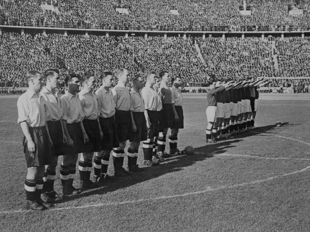 Das deutsche Team im Sommer 1938. Foto: Imago