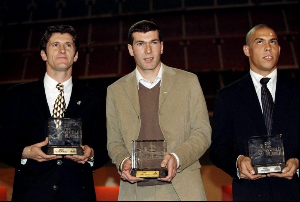Suker, Zidane und Ronaldo. Foto: Getty Images