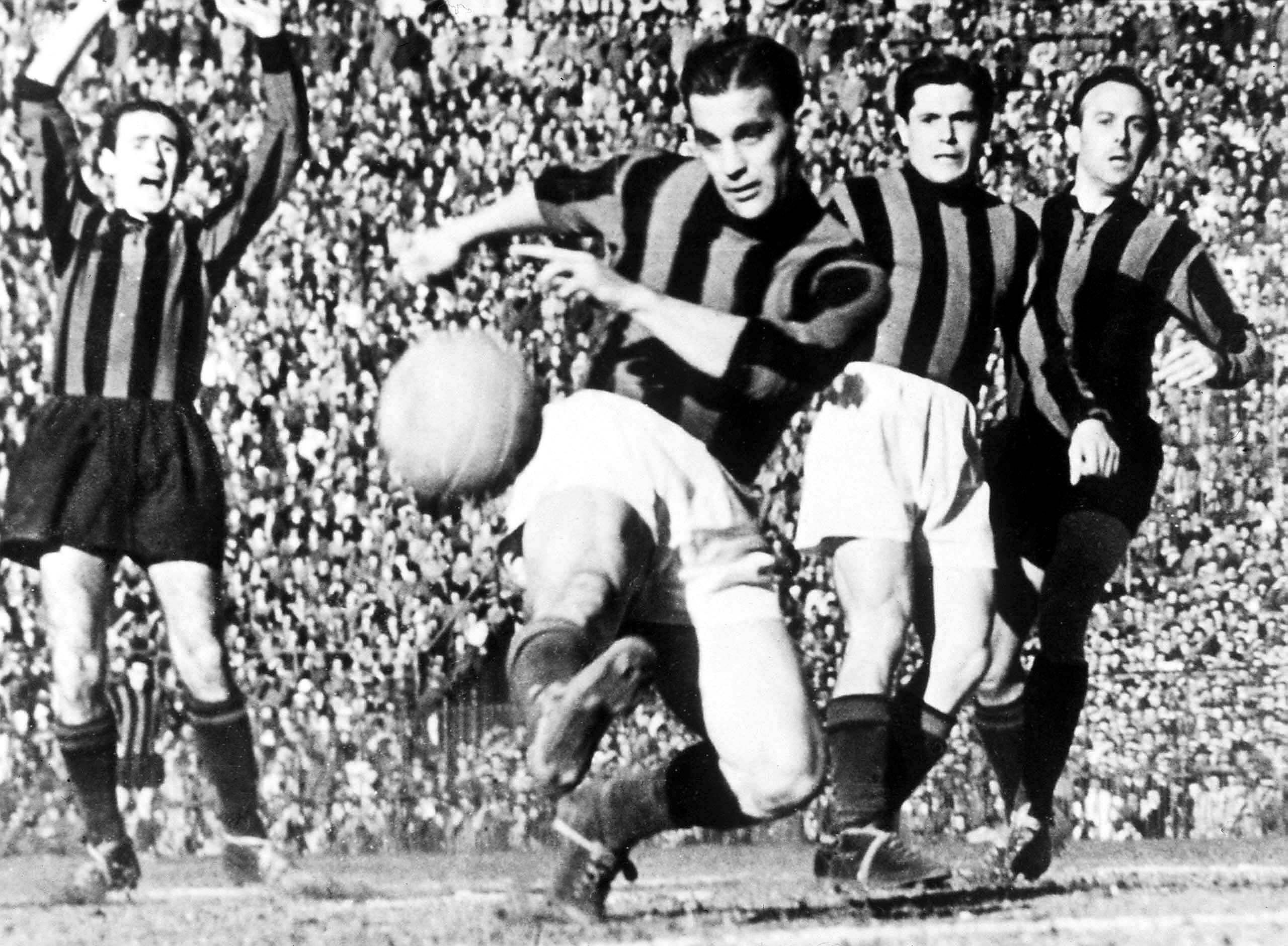 "Gunnar Nordahl - iconic hero of Italian ""calcio""."