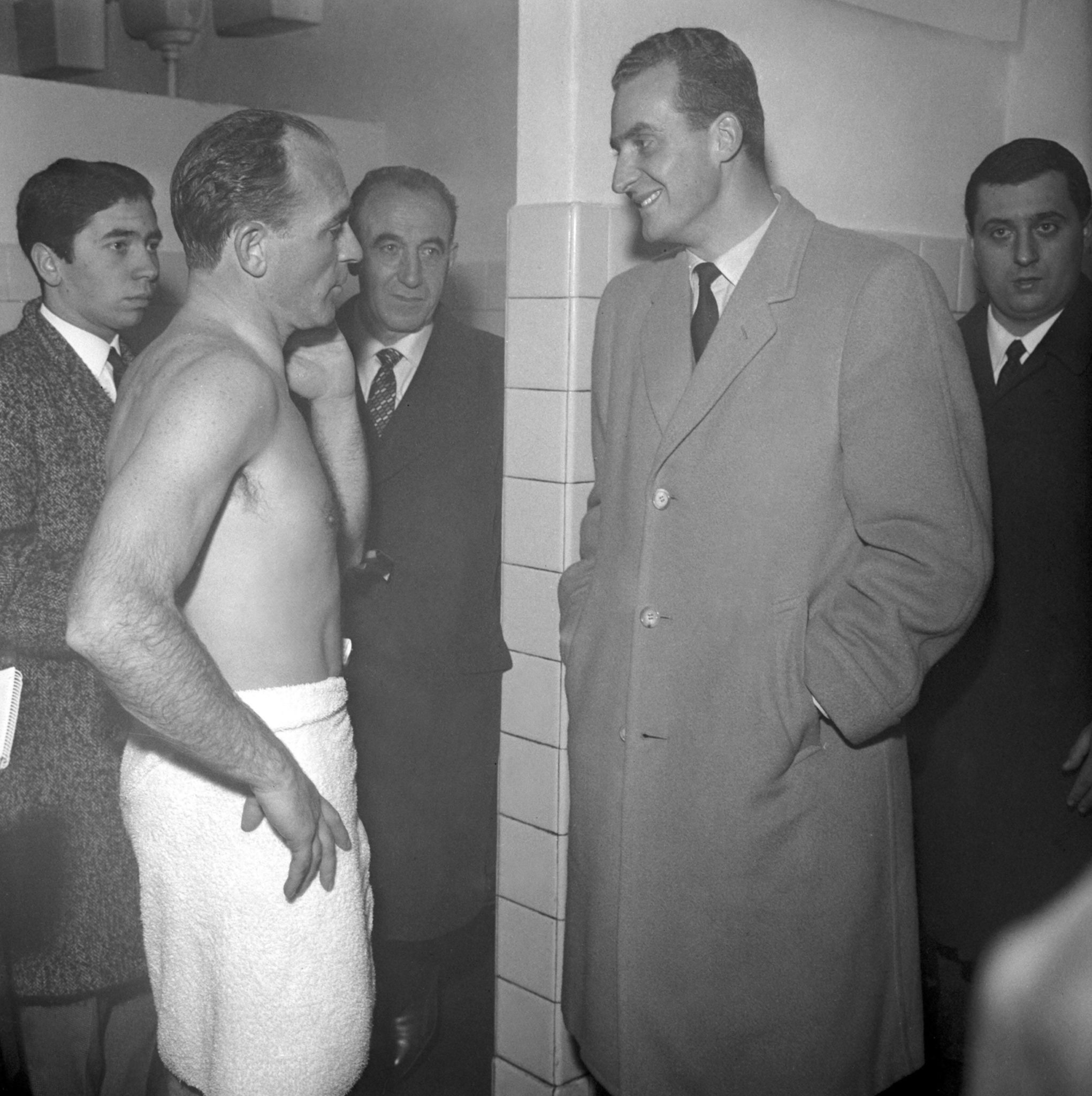 Alfredo di Stefano mit Juan Carlos.