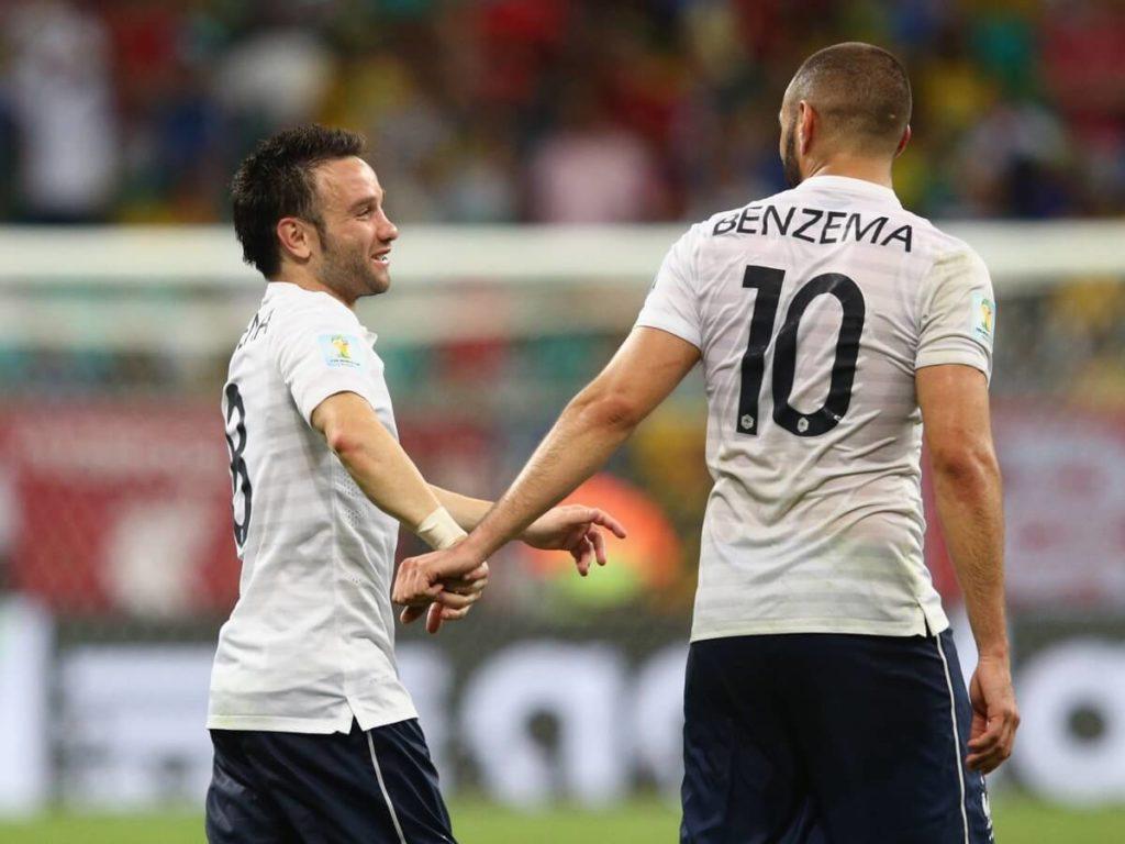 Karim Benzema (rechts) und Mathieu Valbuena. Foto: Getty Images