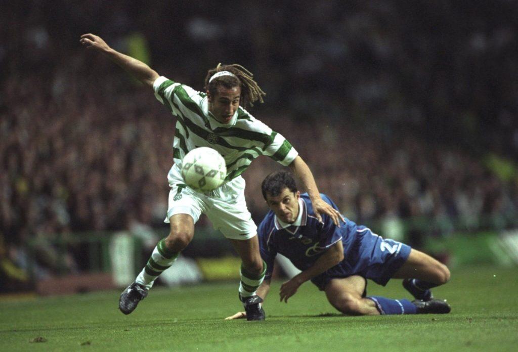 Eine späte Erfolgsgeschichte bei Celtic; Mandatory Credit: Clive Brunskill /Allsport