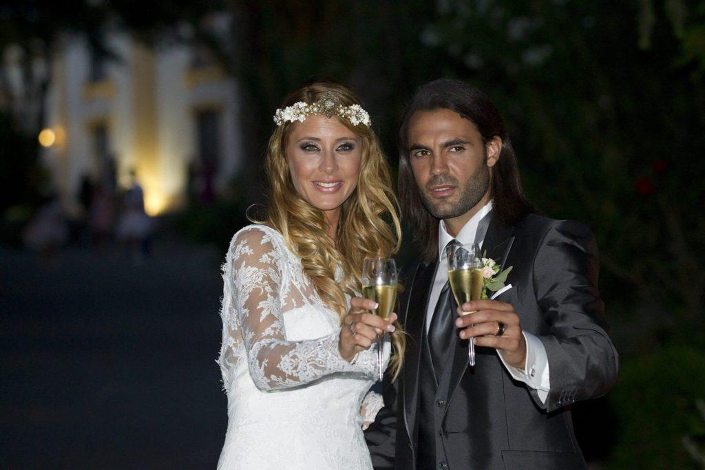 Sergio Sanchez, der damals bei Panathinaikos Athen spielte, gewann schließlich ihr Herz und heiratete sie. Foto: Getty Images