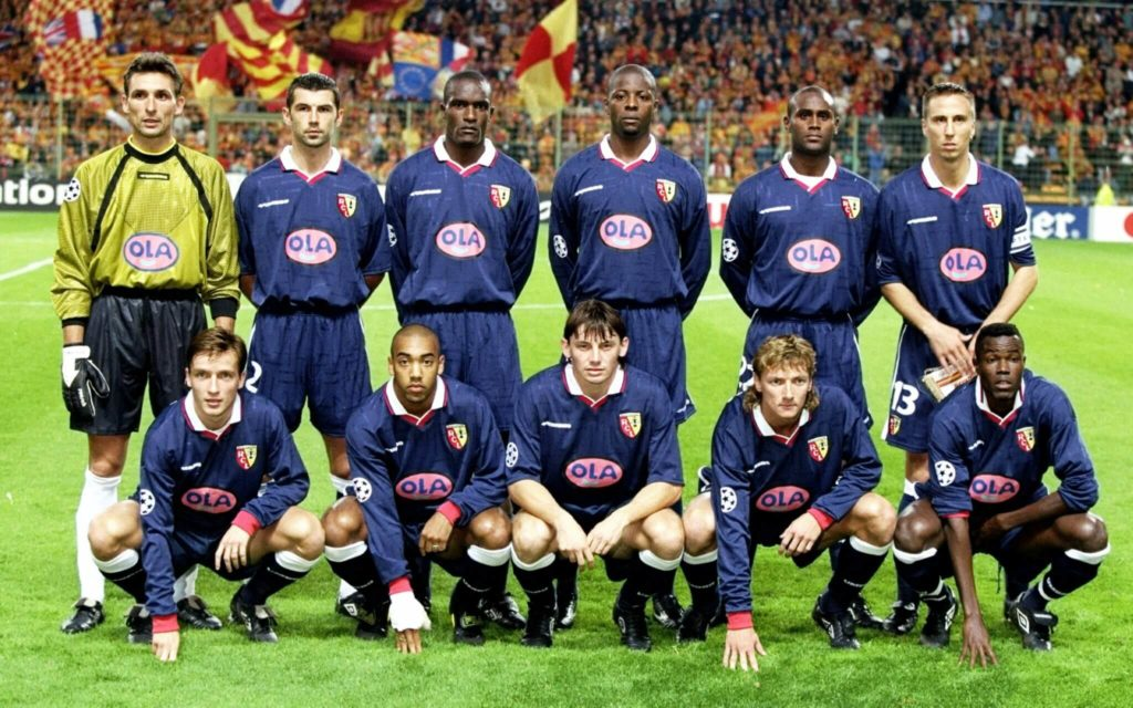 RC Lens 1998. (Mandatory Credit: Allsport UK /Allsport)