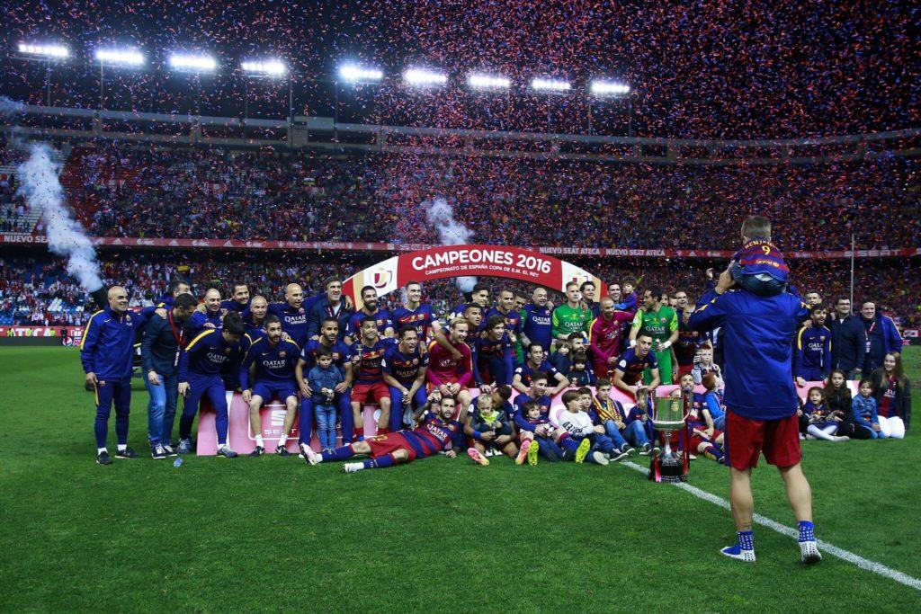 Barca und die Welrekorde. (Photo by Gonzalo Arroyo Moreno/Getty Images)