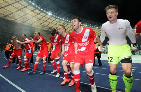Zweitligist Fortuna Düsseldorf überrumpelte Hertha BSC 2012 in den Relegationsspielen zur Bundesliga..