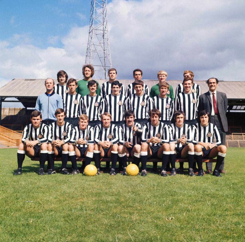 The Newcastle United F.C. team, 1970.
