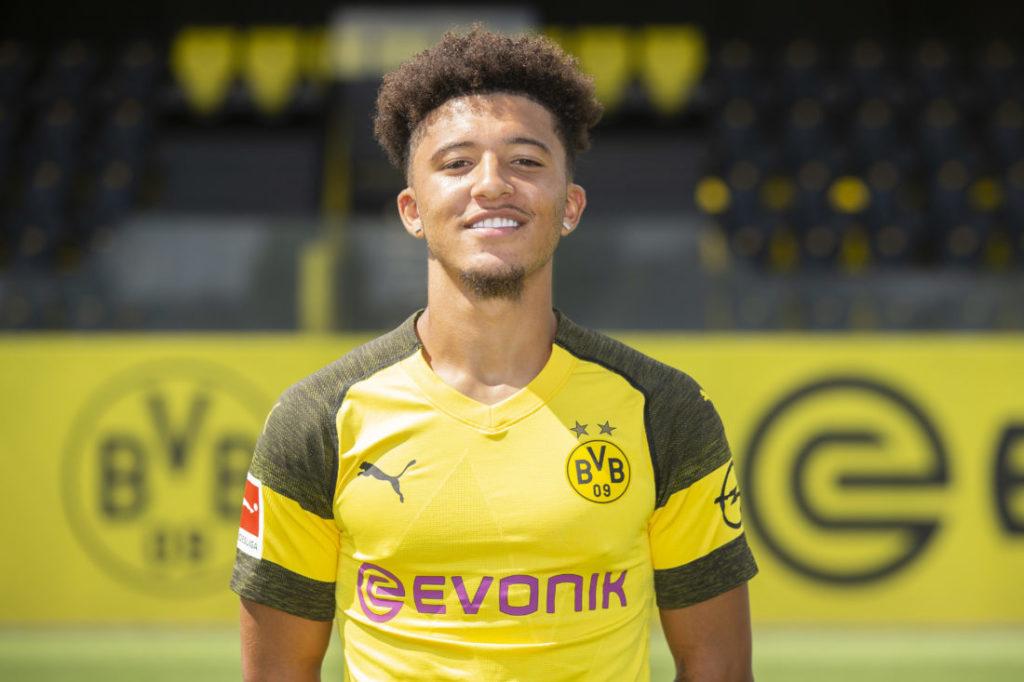 Jadon Sancho im gelb-schwarzen Trikot des BVB.