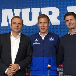 Bernd Hoffmann, Hannes Wolf und Ralf Becker - Die neue HSV Führung.