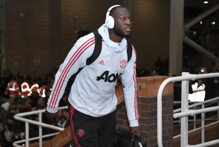NEWCASTLE UPON TYNE, ENGLAND - JANUARY 02: Romelu Lukaku of Manchester United arrives at the stadium prior to the Premier League match between Newcastle United and Manchester United at St. James Park on January 2, 2019 in Newcastle upon Tyne, United Kingdom.