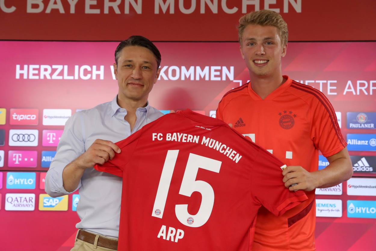 Jan Fiete Arp und Niko Kovac.