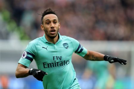 Pierre-Emerick Aubameyang bleibt auch in London eine Tor-Maschine. (Photo by Marc Atkins/Getty Images)