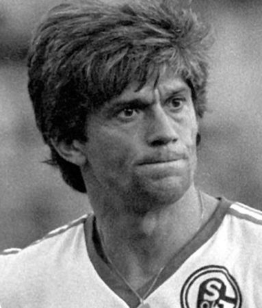 Werner Lorant im Trikot des FC Schalke 04.