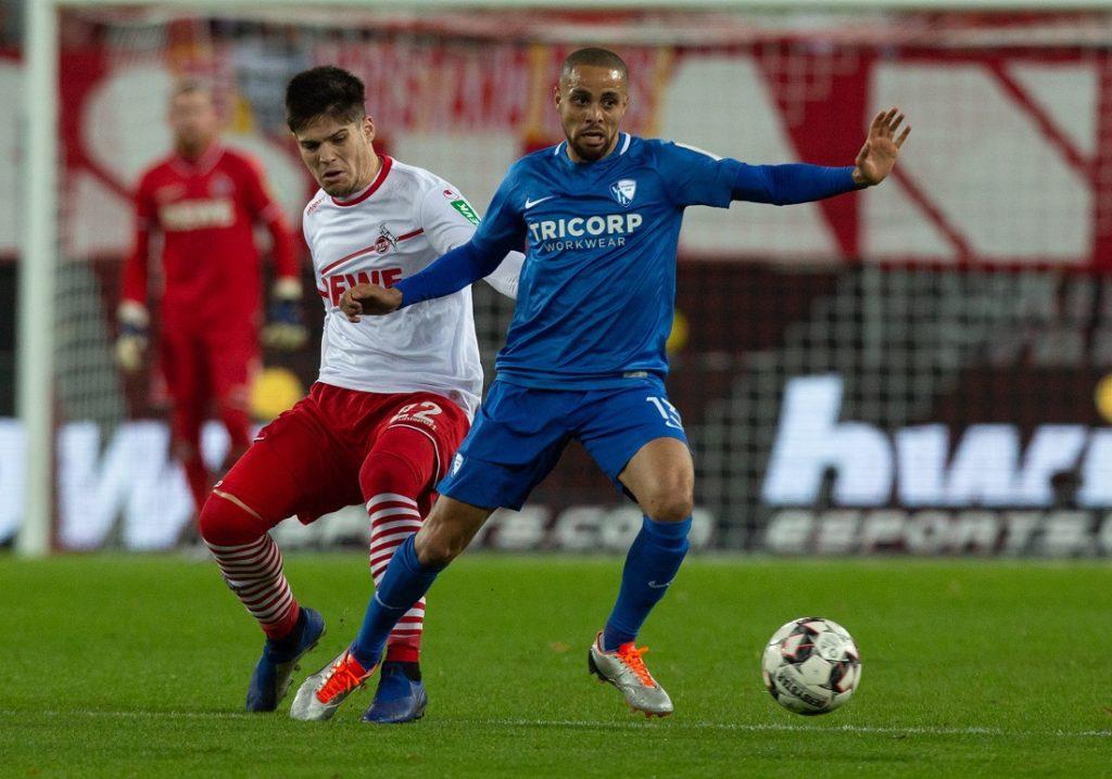 Sidney Sam (r.) in seiner letzten Zweitliga-Saison 2018/2019 mit dem VfL Bochum, hier gegen den 1. FC Köln im Dezember 2018