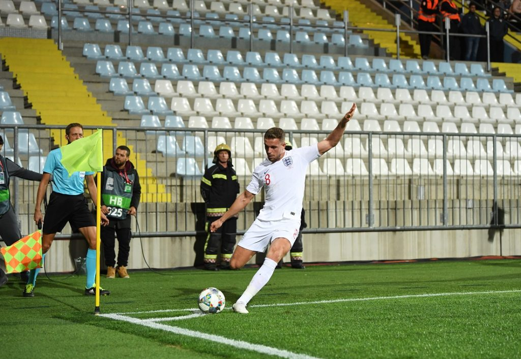 Jordan Henderson im UEFA-Nations-League-Match gegen Kroatien (0:0), das in Rijeka vor leeren Rängen stattfinden musste.