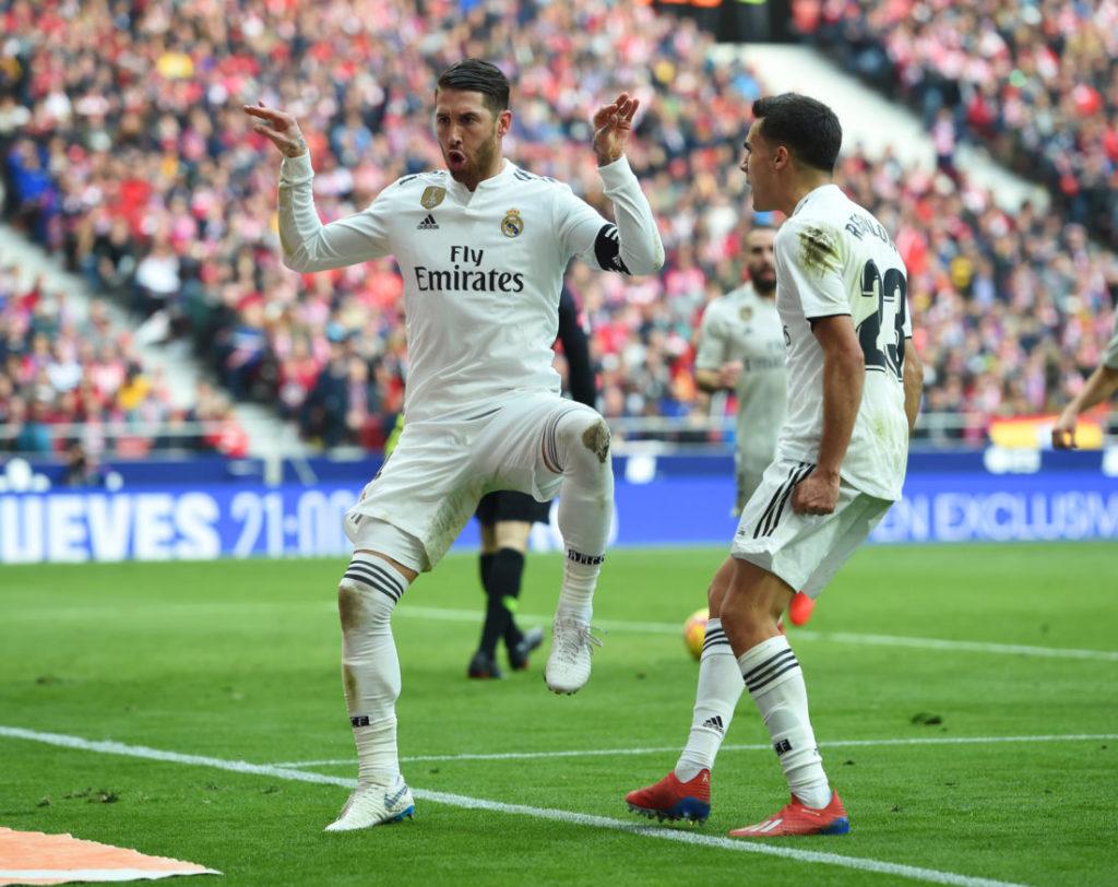 Dieser Ulk-Jubel von Sergio Ramos zeigt klar: Bei Real Madrid ist die Leichtigkeit des Seins zurück... (Photo by Denis Doyle/Getty Images)