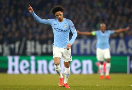Respekt vor Schalke: Verhaltener Jubel bei Leroy Sané nach seinem Tor für Manchester City zum 2:2.