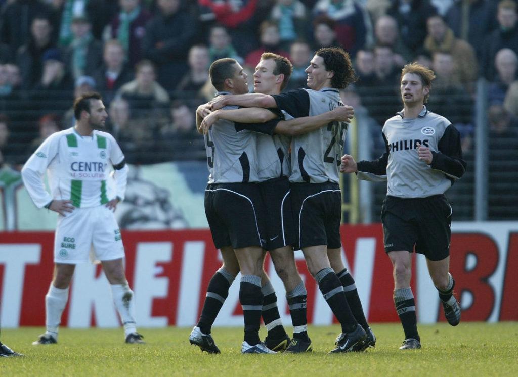 Arjen Robben und die PSV Eindhoven jubeln im Oosterpark von Groningen.