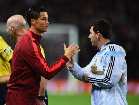 CR7 und Leo Messi -Nicht unbedingt ziemlich beste Freunde, aber auch keine Feinde.