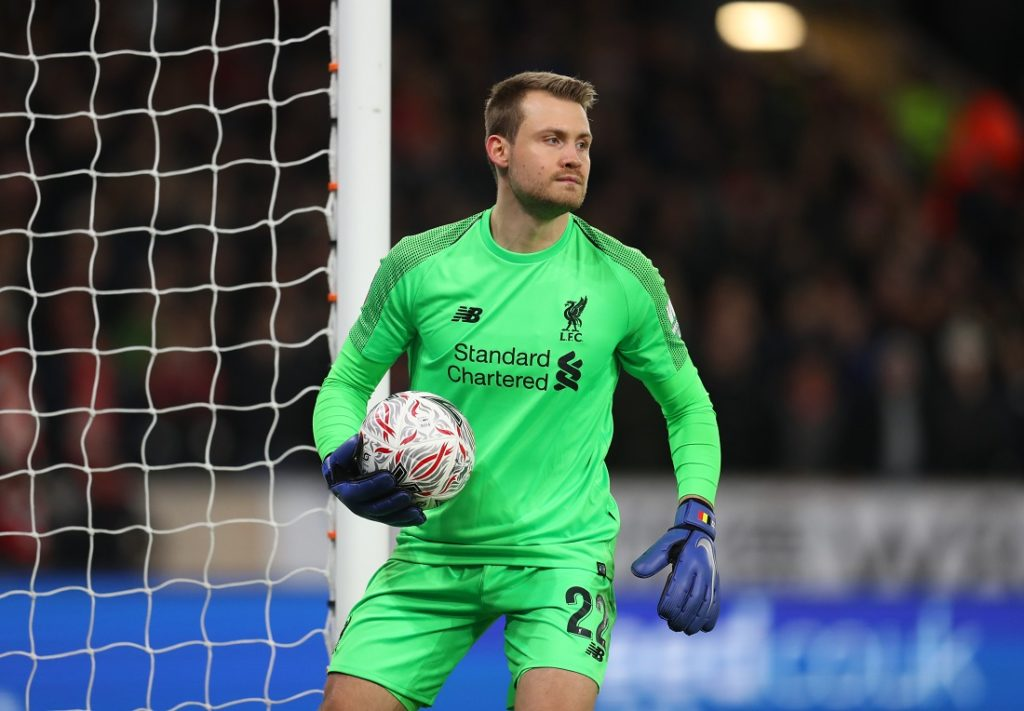WOLVERHAMPTON, ENGLAND - JANUARY 07: Simon Mignolet of Liverpool during the Emirates FA Cup Third Round match between Wolverhampton Wanderers and Liverpool at Molineux on January 7, 2019 in Wolverhampton, United Kingdom.