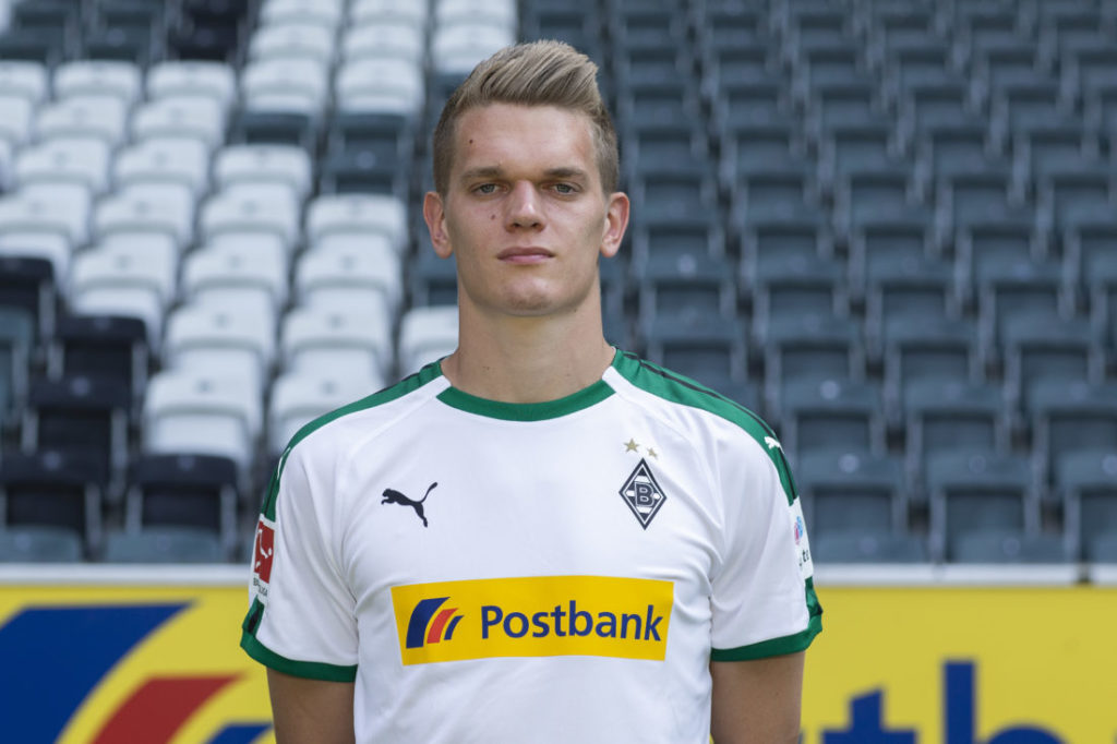 MOENCHENGLADBACH, GERMANY - AUGUST 02: Matthias Ginter of Borussia Moenchengladbach poses during the team presentation at Borussia Park on August 2, 2018 in Moenchengladbach, Germany.