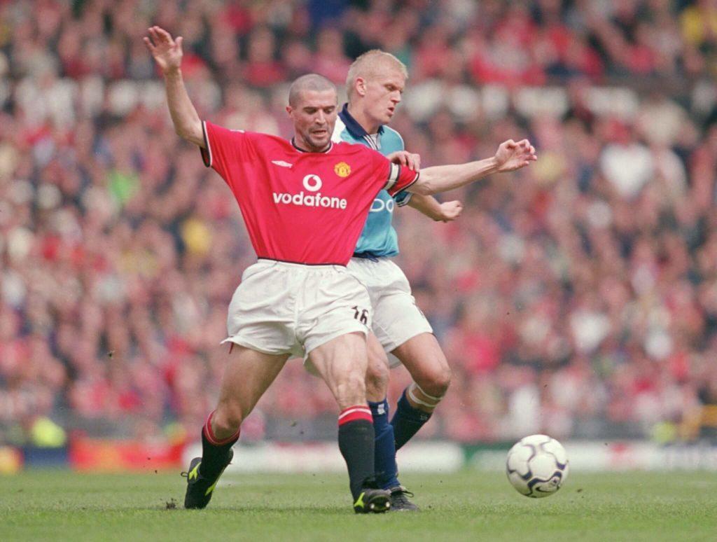 Keane vs. Haaland - a bad Duel. Mandatory Credit: Gary MPrior/Allsport