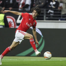 FRANKFURT AM MAIN, GERMANY - APRIL 18: Joao Felix of Benfica controls the ball during the UEFA Europa League Quarter Final Second Leg match between Eintracht Frankfurt and Benfica at Commerzbank-Arena on April 18, 2019 in Frankfurt am Main, Germany.