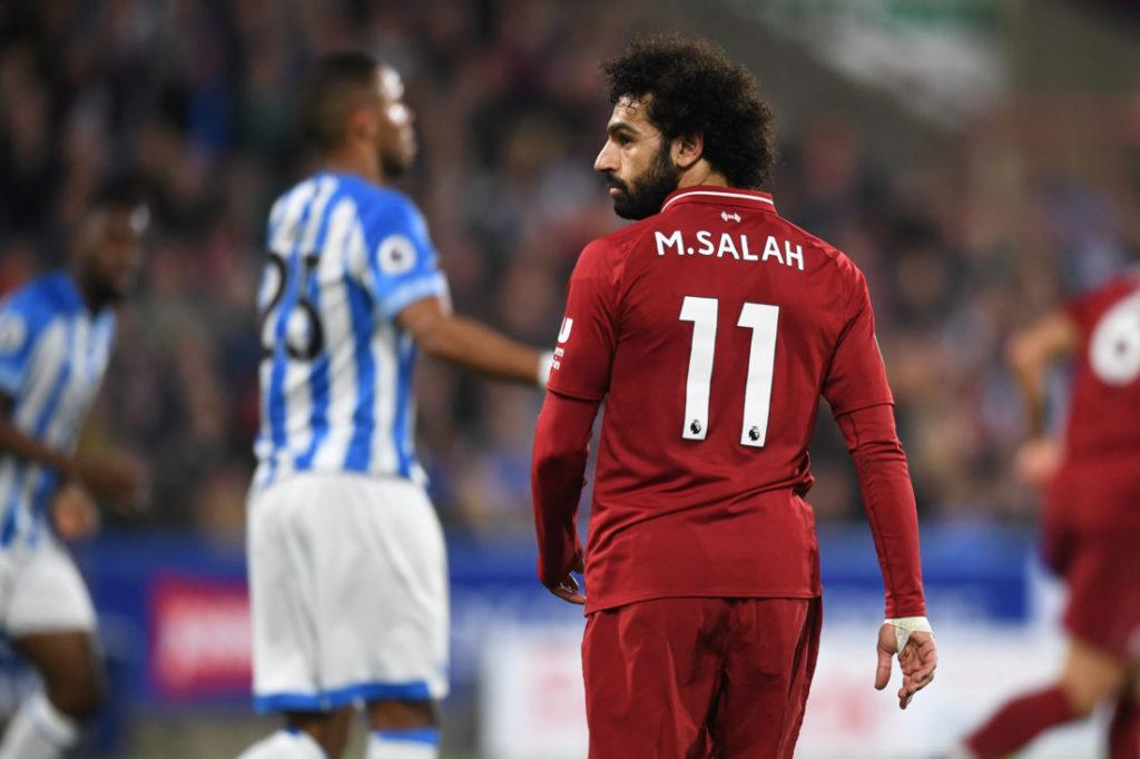 Mohamed Salah in seinem persönlichen Rekordspiel gegen Huddersfield Town.