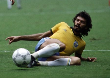 The tragic hero of Brasilian football - Socrates. Image: Getty Images