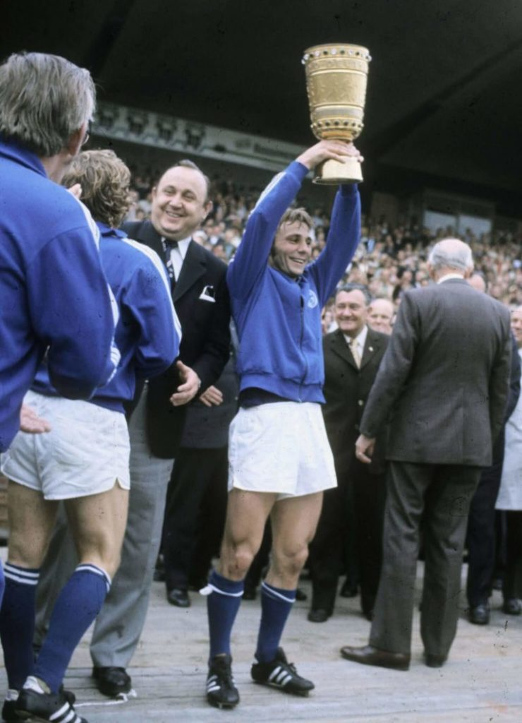Reinhard Libuda led Schalke 04 to win the German Cup in 1972.