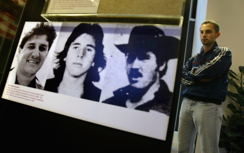 NEW YORK - SEPTEMBER 15: Pictures depicting the Ochoa brothers, former members of the Medellin drug ring.